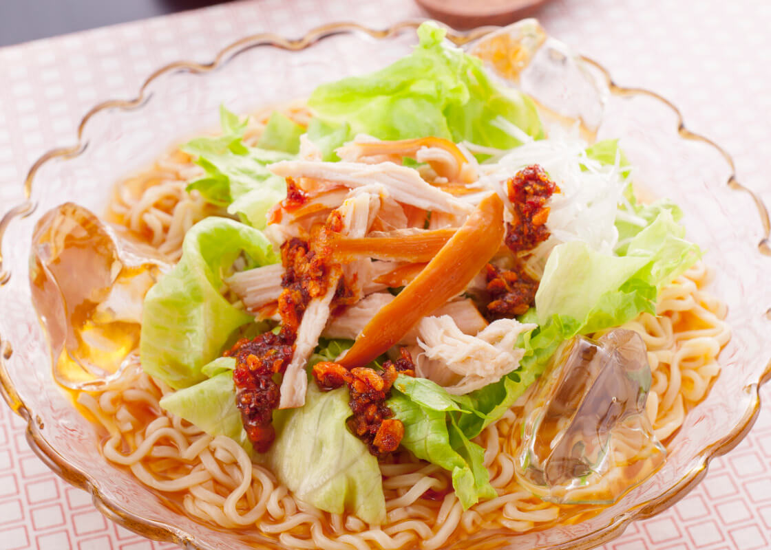 食べるラー油のサラダ麺