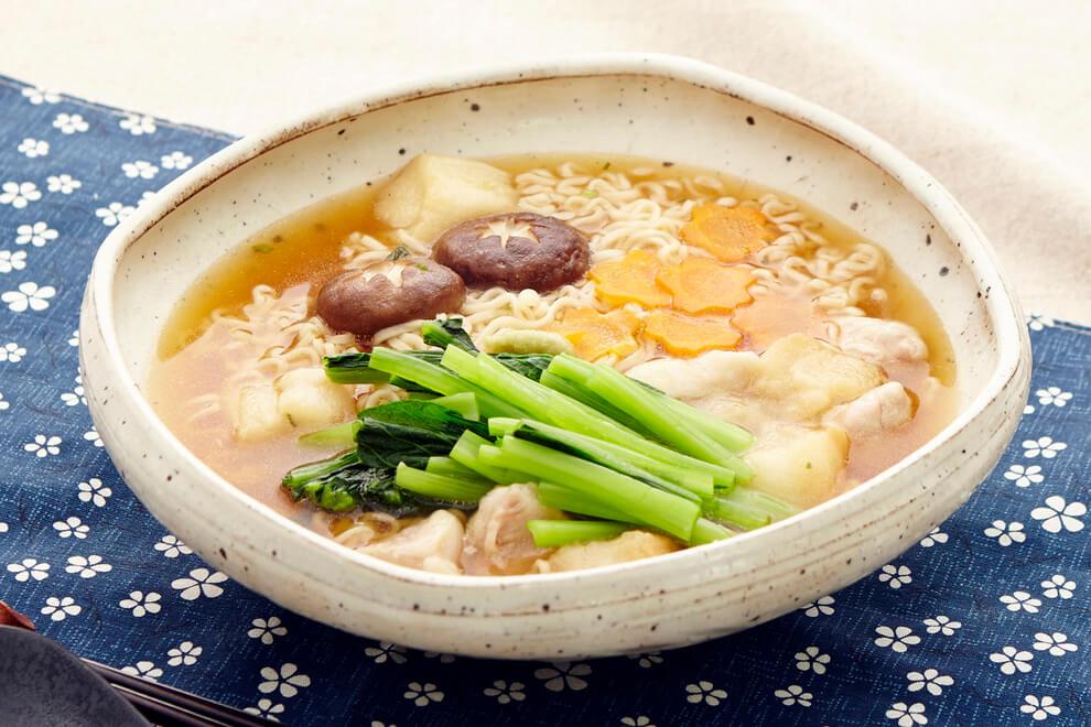 お手軽金沢料理。治部煮風しょうゆラーメン