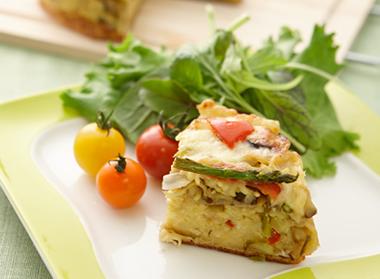 夏野菜とベーコンのキッシュ