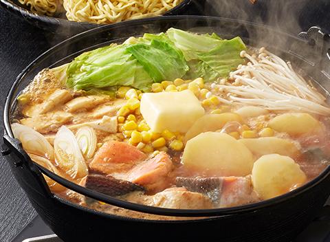 ほっくり濃厚!北海道石狩風みそバター鍋