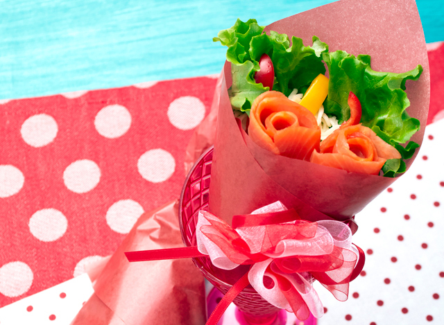 母の日に☆ブーケサラダ麺
