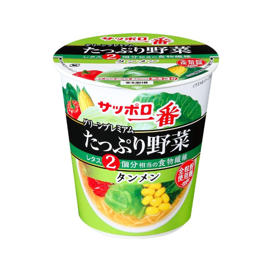 サッポロ一番 グリーンプレミアム たっぷり野菜 タンメン