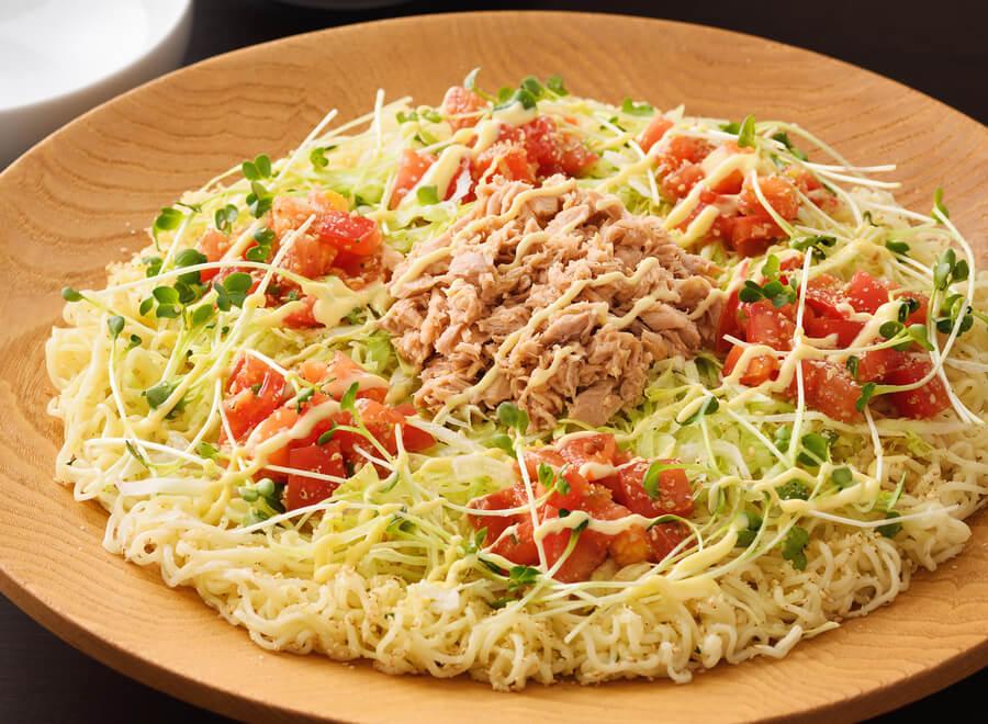 サッポロ一番 ツナサラダ大皿あえめん